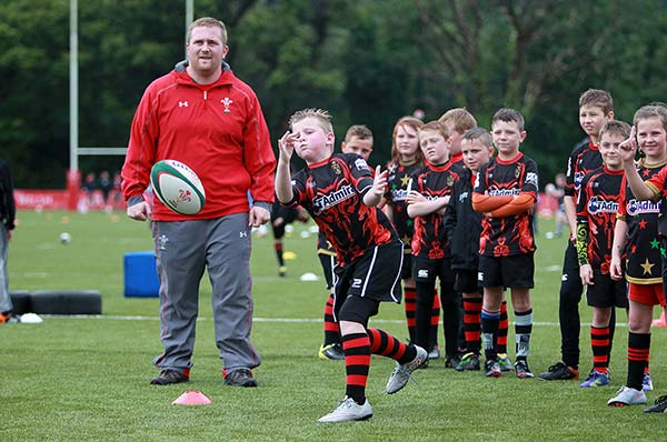 A kids rugby training camp